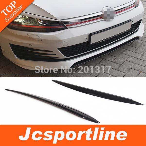 High quality  Real Carbon Fiber Car Eyelids , Auto car Eyebrows For VW Golf 7 (Fit For Golf7 MK7 2014)<br><br>Aliexpress