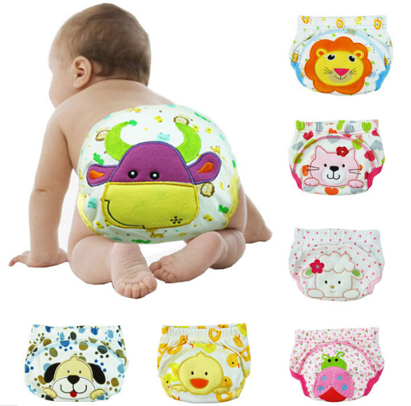 3PCS/lot Baby Diapers Washable Reusable Bebe Nappy 100% Cotton Newborn Potty Training Pant Waterproof Underwear Cloth diaper(China (Mainland))