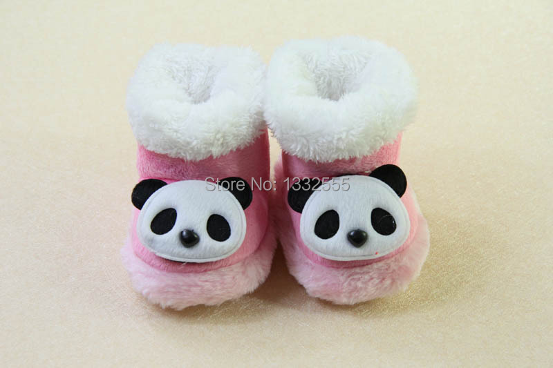 2015 New design infant baby girl shoes cute panda pink shoes for newborn baby(China (Mainland))
