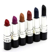 New Makeup 6 Color Matte Lipstick  Vampire Style Makeup Purple  Black Red Lipstick  Easy to Wear Pencil Lip Stick Cosmetic