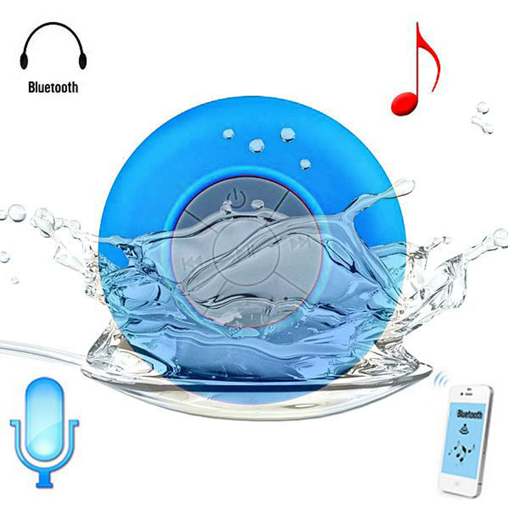Mini Portable Shower Waterproof Wireless Bluetooth Speaker Subwoofer Car Handsfree Call Music Suction Mic For iOS Android Phone(China (Mainland))