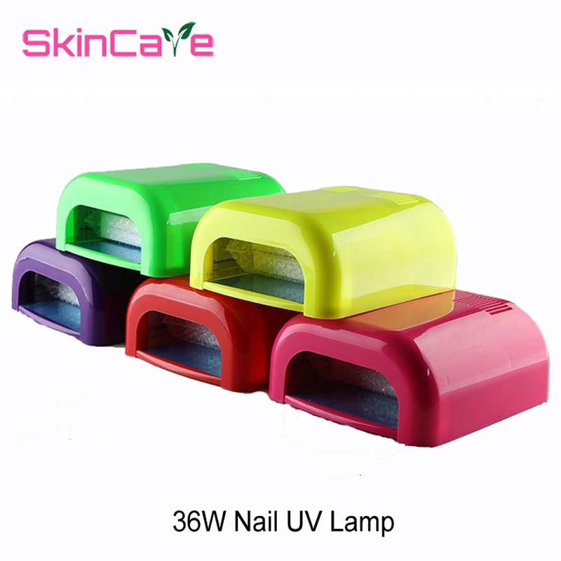 Colorful 36W Nail Gel UV Lamp Diamond Shape LED UV CCFL Light Gel Curing Lamps Nail Dryer For Curing Nail Art NA5213(China (Mainland))