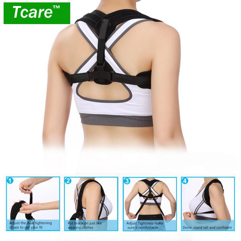 * Tcare Adjustable Posture Corrector Corset Back Support Brace Band Belt Orthopedic Vest Posture Correct Belt For Health Care(China (Mainland))