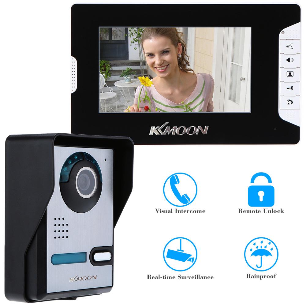 """7 """" TFT Color LCD Moniter Video Door Phone Intercom Doorbell System Kit Unlock IR Night Vision Rainproof Camera Video Intercom(China (Mainland))"""