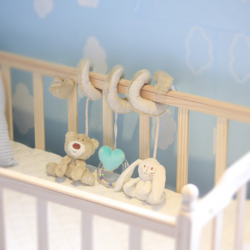 Soft Crib Toys : Baby crib toys bed musical mobile soft plush rabbit