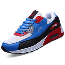 New 2016 Men Breathable Shoes Casual Mesh Basket Femme Sport Walking Shoes Lace Up Outdoor Flat Trainers Zapatos Hombre Air Red
