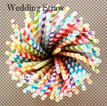 2015 new arrival 25pcs/Lot Event & Party Supplies Chevron Striped And Polka Dot Paper Straws For Wedding Party Decoration(China (Mainland))
