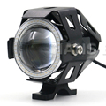 5 Color 125W Motorcycle 3000LMW Upper Low Beam Flash New U7 LED Driving Fog Spot Head