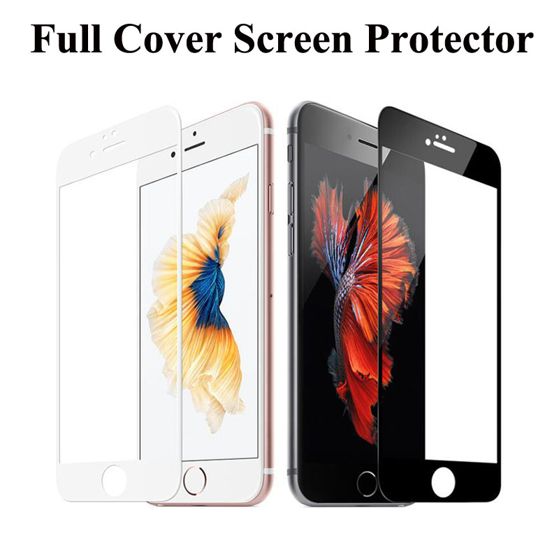 3D Full Cover Screen Protector Tempered Glass for iPhone 6 6s Plus Color Protective Explosion Proof Film(China (Mainland))
