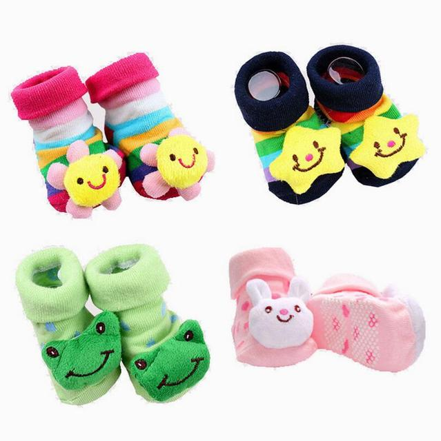 1 Пара хлопок Детские носки резиновый противоскользящий пол мультфильм дети Малышей осень весенняя Мода для Животных новорожденный Симпатичные 20 Моделей