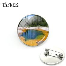 TAFREE 2018 Nuovo Parco Nazionale di Yellowstone Spilla Pins Norris Geyser Bacino Distintivi Monili D'avanguardia FA786(China)