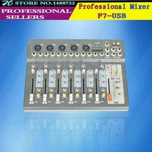 Профессиональный F7 USB 7 канала эхо voic эффект DJ миксер караоке электропитание миксер для сцена для дома караоке миксер аудио
