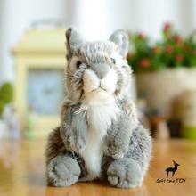 Baby Toys Plush Animals Simulation Rabbits Doll Stuffed Gray Rabbit Toy