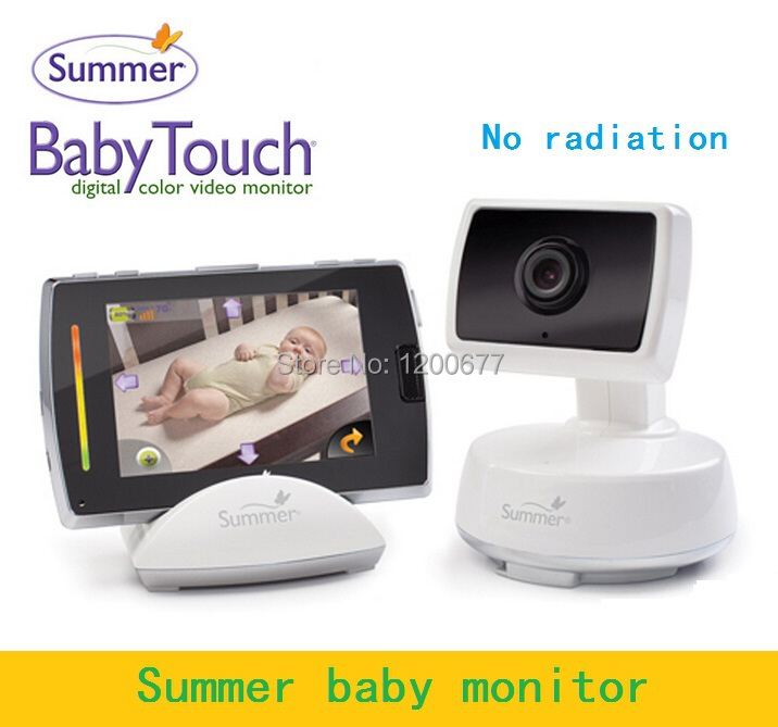 Hot Summer baby monitor 3.5inch Touchable LCD/Remote Control/Nightvision/Temperature Monitor baba eletronica video babysitter(China (Mainland))