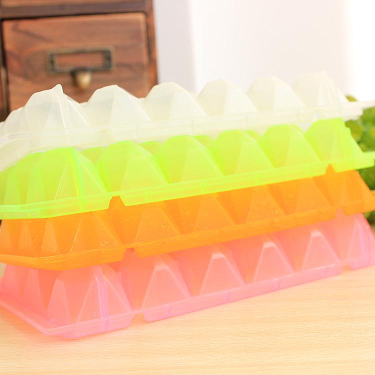 Free Shipping 18/32 Creative Ice mold Box Maker Frozen Mold Ice lattice Geid Jelly Bar Big Diamond Freeze New Arrival 0018(China (Mainland))