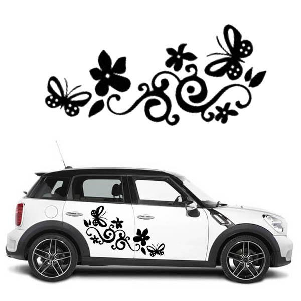 Butterfly Flower Cars Wall StickersCar Window Sticker