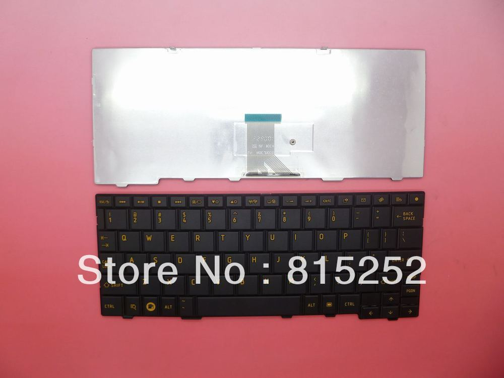 Laptop Keyboard For Toshiba AC100 Without Frame US version Black MP-09R86P06698 PK130CN2A12(China (Mainland))