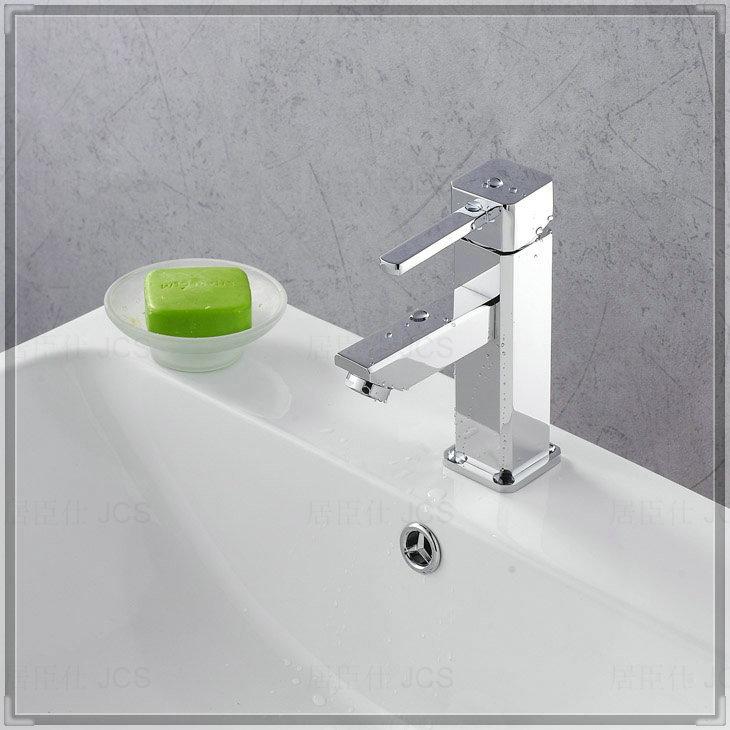 Bathroom sink basin mixer tap chromed polished brass 8 corner Faucet ...