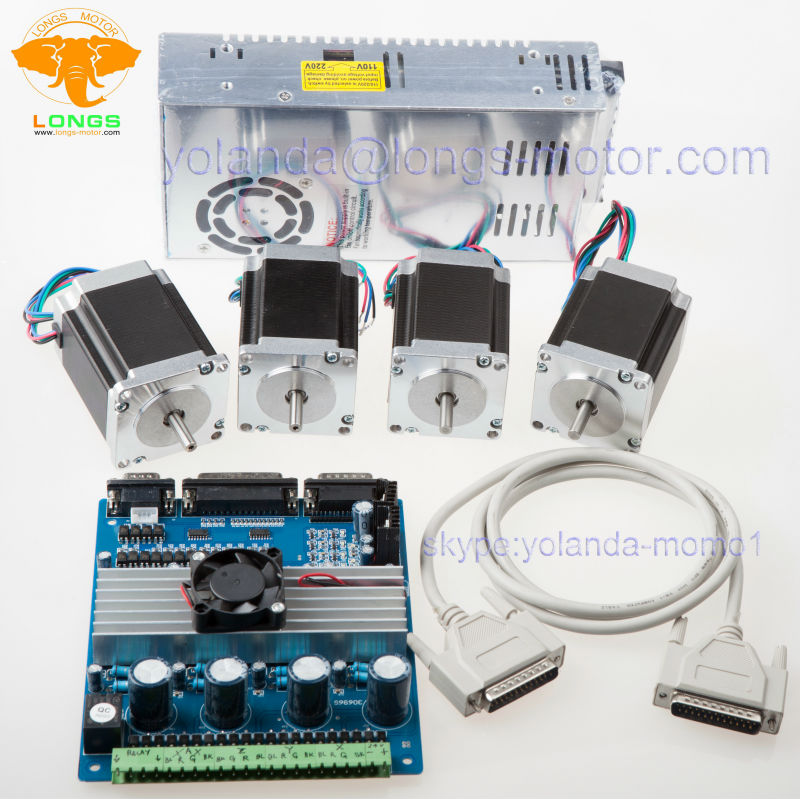 4 Axis Nema 23 Stepper Motor 290 Cnc Router Kit In