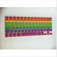 WholesaleUK/EU Rainbow Laptop Keyboardx100 Silicone Skin Protector Cover Sticker for apple Macbook Pro Air 13 15 17 Retina 13