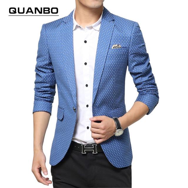 2016 новый мужчины спекл печати высокого качества бизнес blazer костюм мужской диких ...