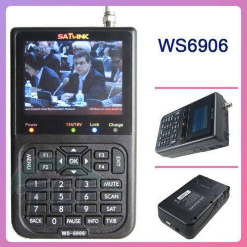 SATLINK WS-6906 DVB-S FTA Digital Satellite Finder Meter TV Signal Receiver,new export product(China (Mainland))