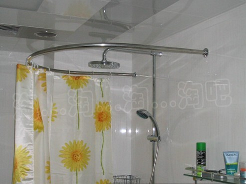 circular shower curtain rod thick stainless steel u type corner