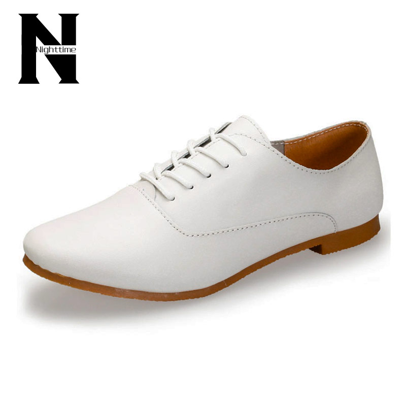Гаджет  2016 Fashion Flat Shoes Ladies Genuine Leather Oxford Shoes For Women Flats Moccasins Sapatos Femininos Sapatilhas Zapatos Mujer None Обувь