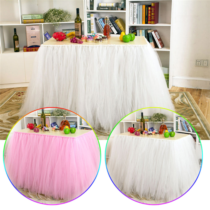 Online get cheap tutu baby shower decorations aliexpress for Baby shower tulle decoration ideas