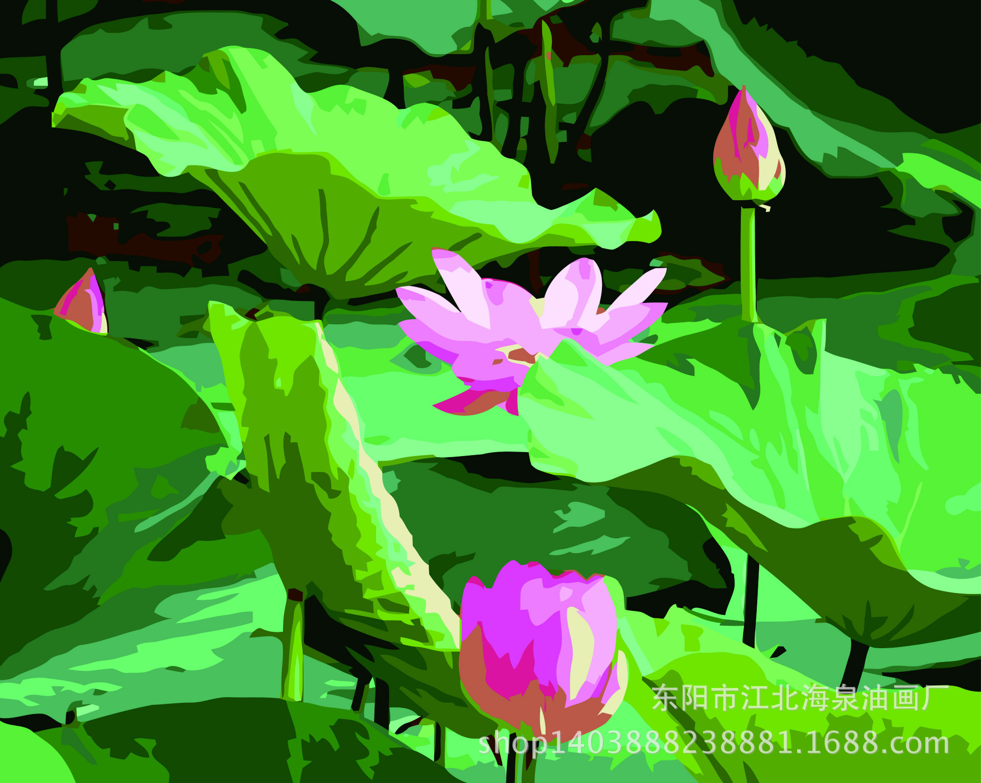 Popular painting flower lotus buy cheap painting flower lotus lots lotus flower oil painting 2017 new 4050cm diy oil painting by numbers wall dhlflorist Choice Image