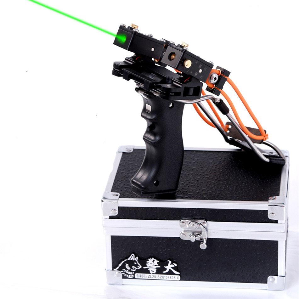 2016 new style slingshot JING QUAN Powerful Catapult Slingshot Hunting super  slingshot hunting bow with green light<br><br>Aliexpress
