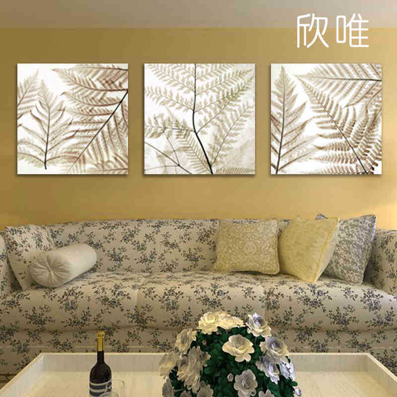 Free shipping canvas painting wall pictures 3panels wall art the leaves canvas art home decor - Home decor promo code paint ...