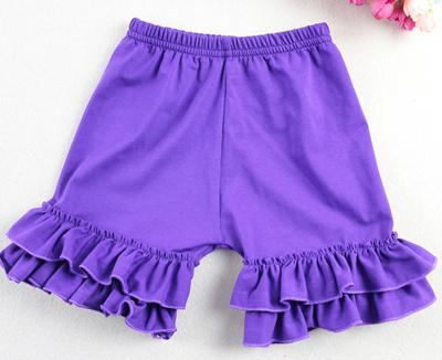Girls Shorts Ruffled Cotton Short For Summer Children Loose Colorful Beach Bermudas Kids Casual Shorts Pants 1-8 T Elastic Waist(China (Mainland))
