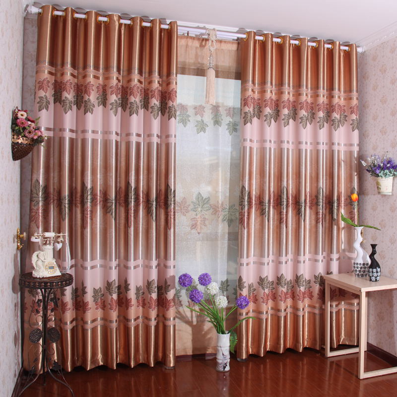 Curtains quality rustic dodechedron curtain cloth customize shade cloth living room curtain finished product