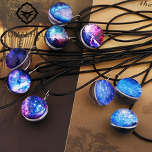 Buy FOMALHAUT Independent brand Crystal glass Ball Galaxy Star Necklace Leather Chain Pendant Necklaces Women 2016 Jewelry for $1.23 in AliExpress store