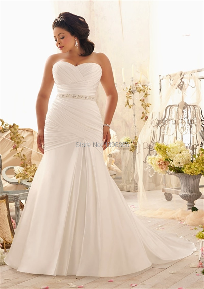 Free shipping western wedding dress plus size 2014 vintage for Plus size beaded wedding dresses