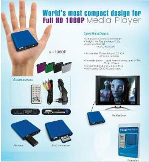 MANYTEL Mini Media Player Mini 1080P HDMI SD/USB HD Media Player MKV/RM/RMVB Wholesale(China (Mainland))