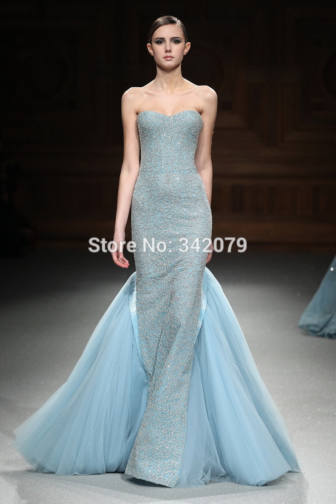 ph15544 2015 new designs evening dress Sexy backless Mermaid evening gown Long section of prom dresses tony ward couture 2015(China (Mainland))