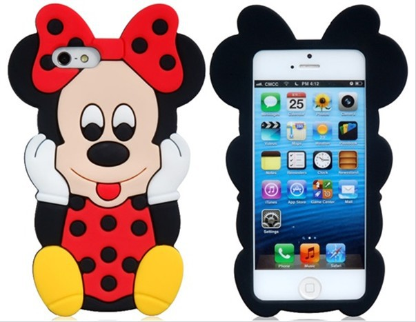 Free shipping New product Mickey and Minnie TPU soft case for iPhone 4(China (Mainland))