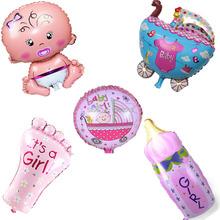 Envío gratis 5 unids/lote del bebé de la historieta 1th fiesta de cumpleaños de helio globos de papel de aluminio para niños fiesta decoración juguetes clásicos inflables