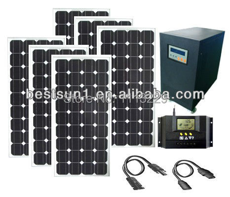 3000W Stand-alone PV Solar Kit for home use China Solar Panel Kit Complete 10KW hot sales 5KW Mono solar panel system(China (Mainland))