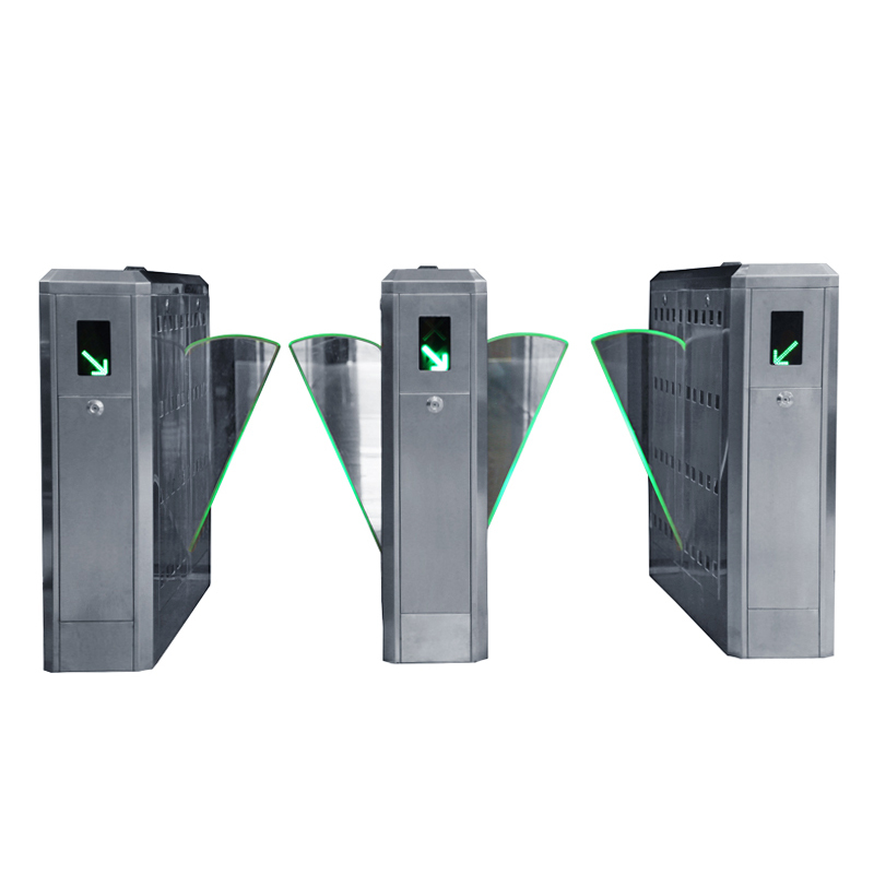 Two Lanes Pedestrian Access Control Flap Barrier Gate for entrance system(China (Mainland))