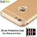 Dual Hybrid Slim Phone Cover Fantasy Arc Metal Aluminum Frame Case For iPhone 6 6 Plus