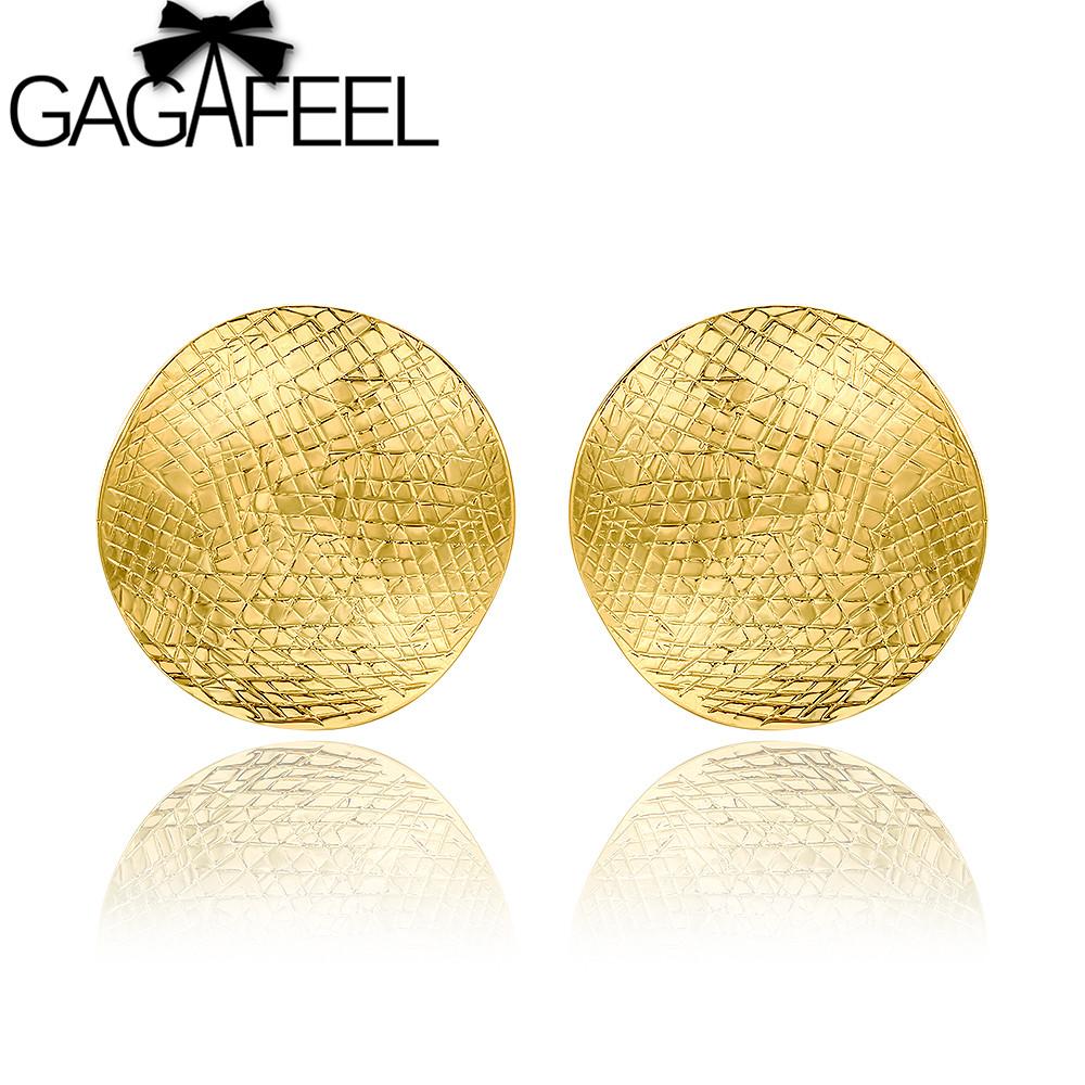 hot sale big earrings new fashion 18k gold earrings for
