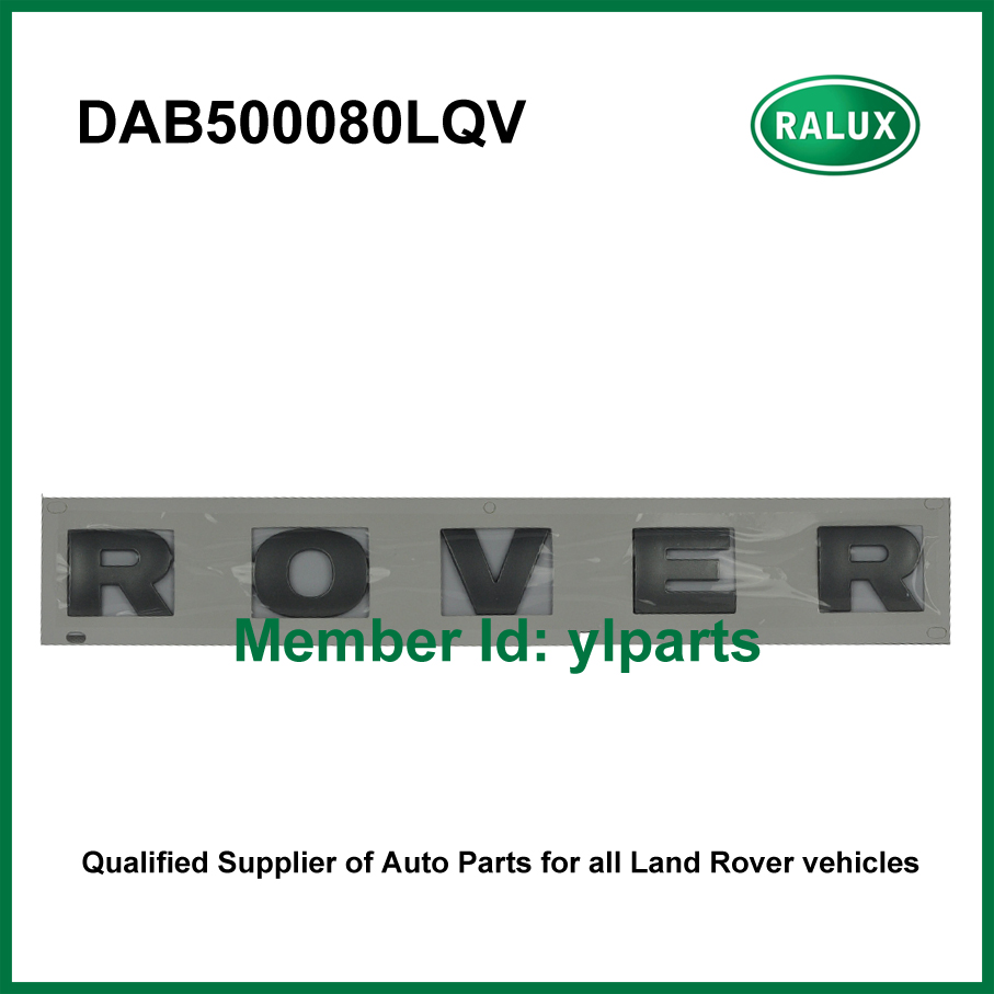 DAB500080LQV front metallic car name plate for LR Discovery 3/4 auto brand letter sticker aftermarket parts factory promotion(China (Mainland))