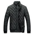 Lesmart Men s Winter Coat Jacket Diamond Lattice Stand Collar Cotton Padded Solid Colorful Casual Fashion