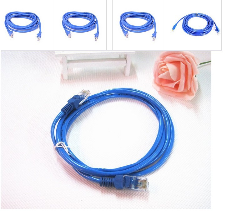 Free shipping Network Cable RJ45 Patch LAN Cord Suit for Unlocked Huawei B970b Original Cable 1M blue color(China (Mainland))