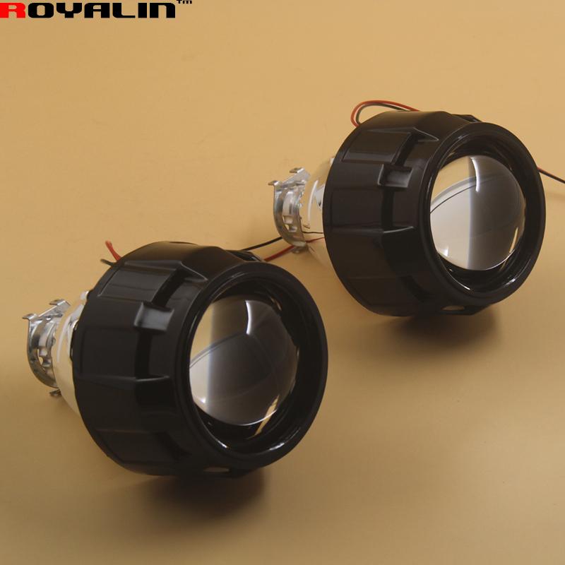 2.5 External Lights Lenses HID H1 Bi Xenon Projector Headlight Lens for H4 H7 Car Styling Motorcycle Retrofit Hi/lo Headlamps(China (Mainland))