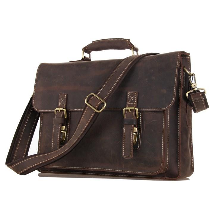 JMD Retro Fashion Crazy Horse Leather Brown Handbags For Men Messenger Bag Shoulder Bags 7205R(China (Mainland))