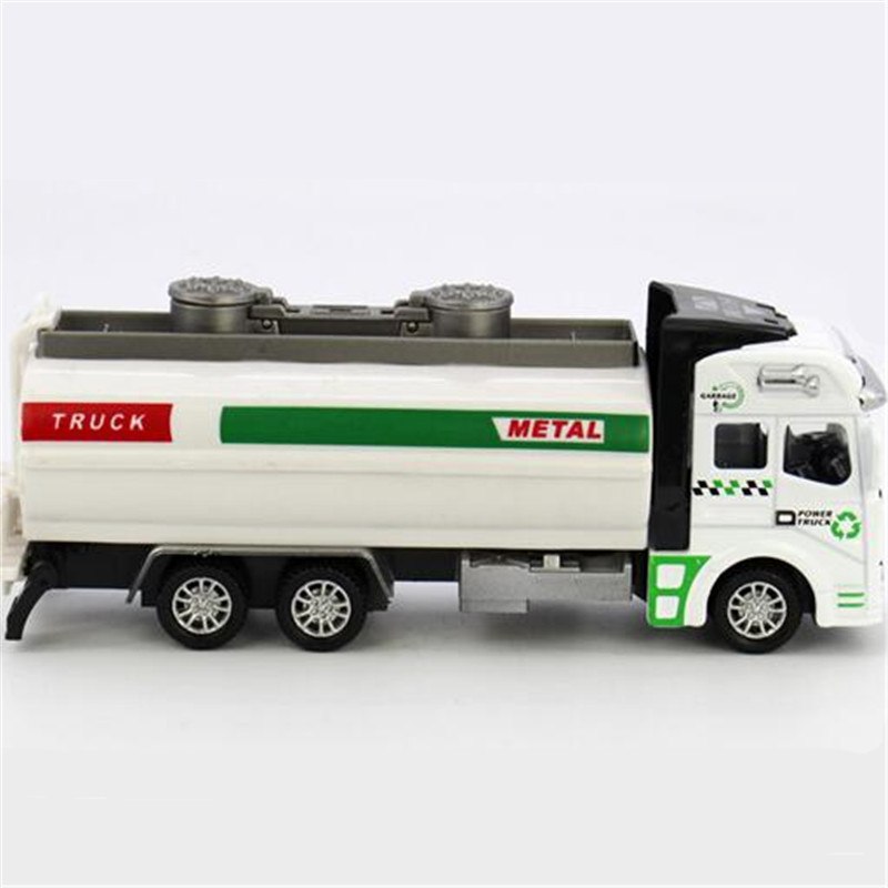 1:32 Alloy Pull back watering cart truck tanker sprinkler model simulation Cars oil tank truck toy car(China (Mainland))